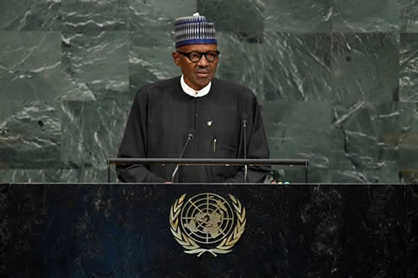 Buhari Addresses UN General Assembly In New York, September 25