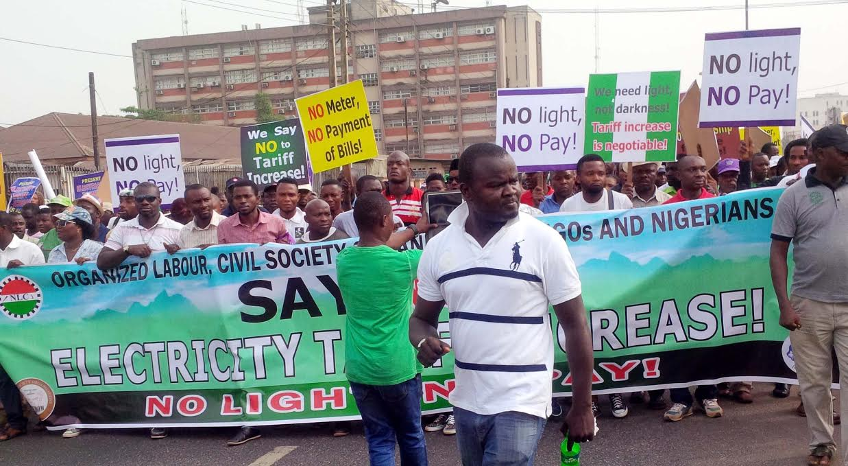 Image result for Workers picket Yola Electricity Distribution office